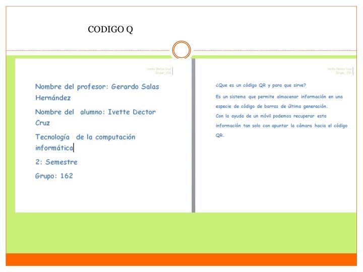 CODIGO Q