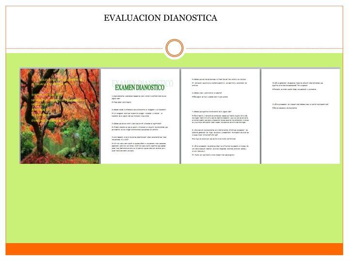 EVALUACION DIANOSTICA