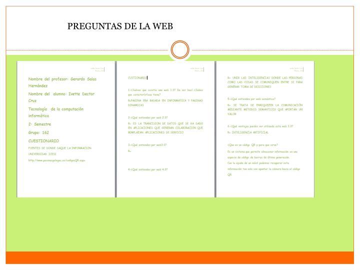 PREGUNTAS DE LA WEB