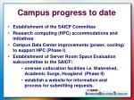 campus progress to date
