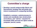 committee s charge
