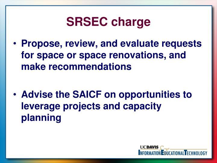 SRSEC charge