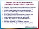 strategic approach to investments in computing facilities saicf committee