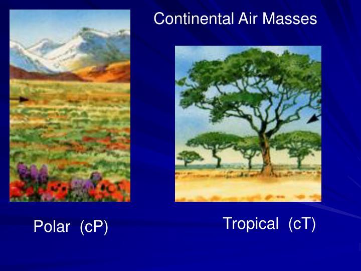 Continental Air Masses