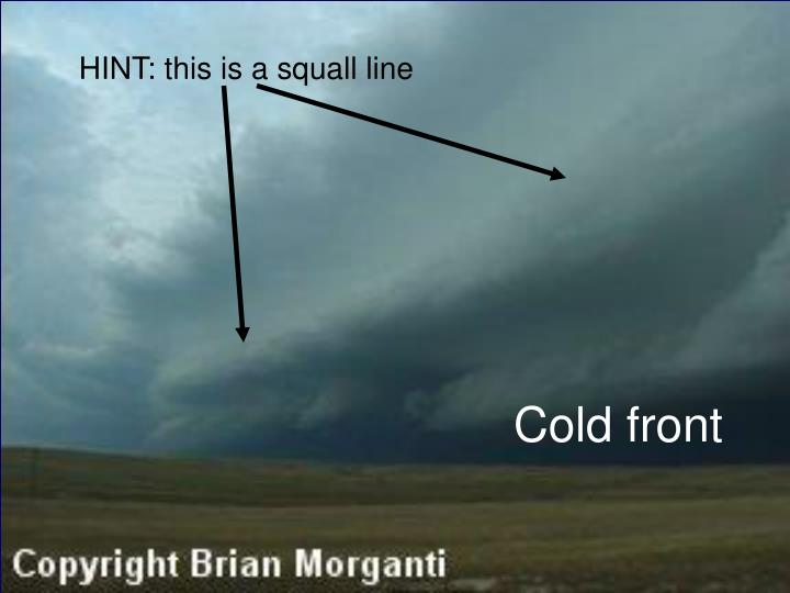 HINT: this is a squall line