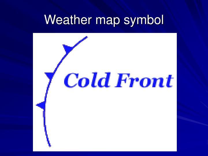 Weather map symbol