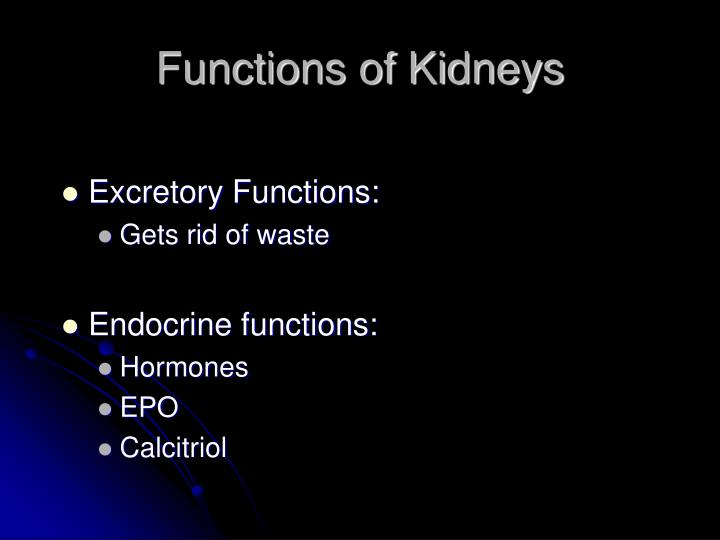 Functions of Kidneys