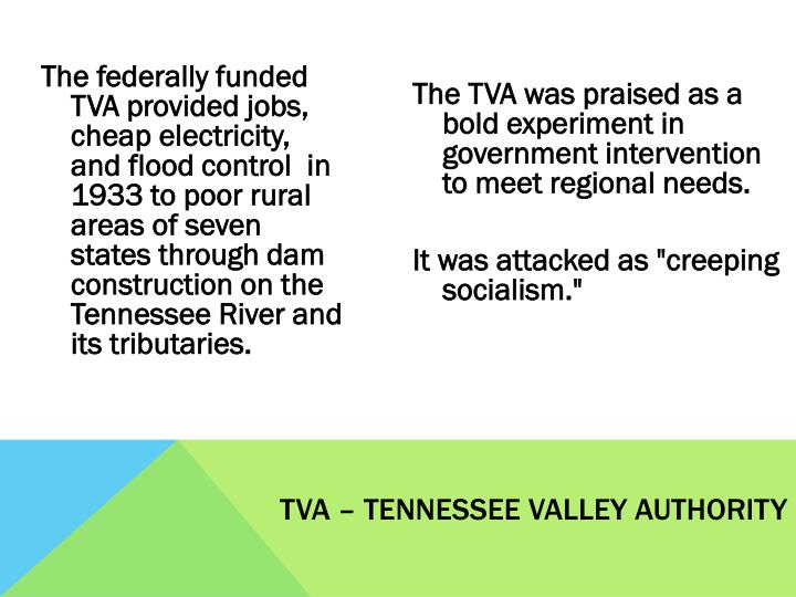 TVA – Tennessee Valley Authority