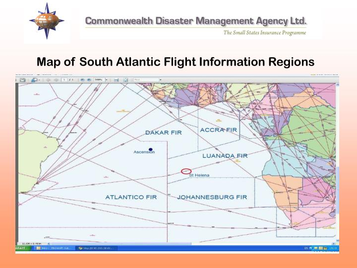 Map of South Atlantic Flight Information Regions