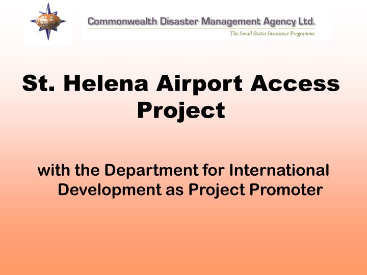 St helena airport access project