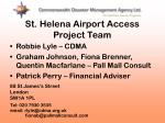 st helena airport access project team