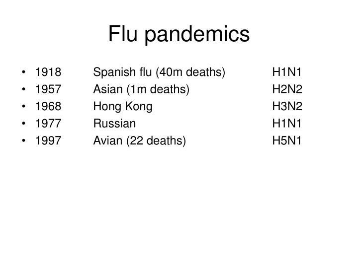 Flu pandemics