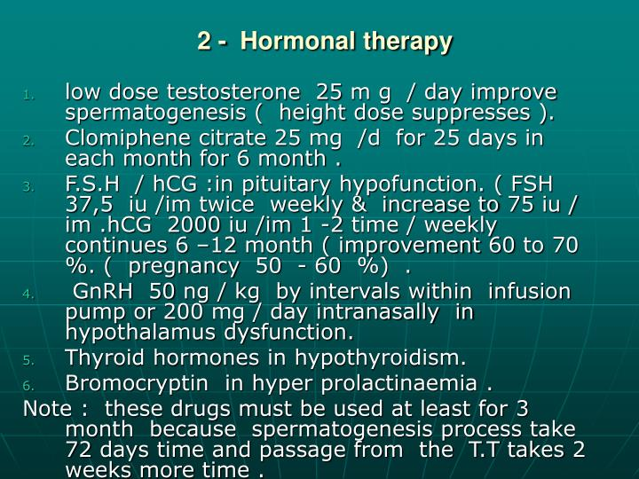 2 -  Hormonal therapy