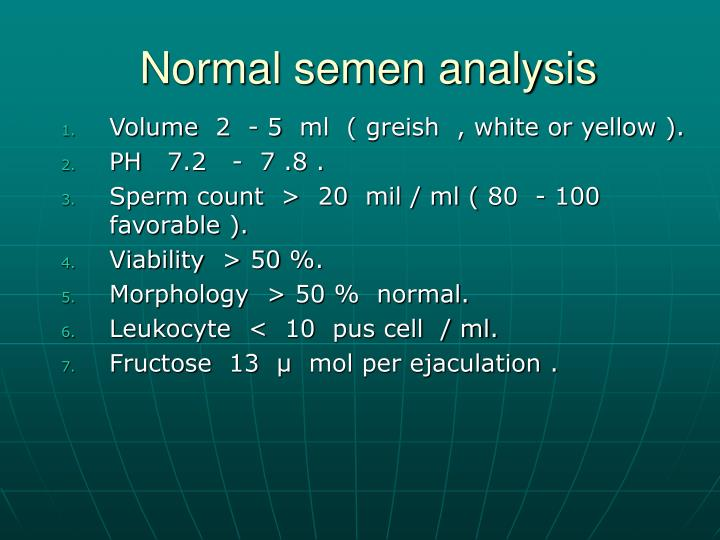 Normal semen analysis