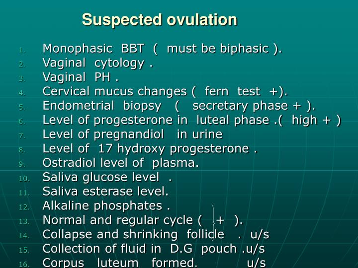 Suspected ovulation