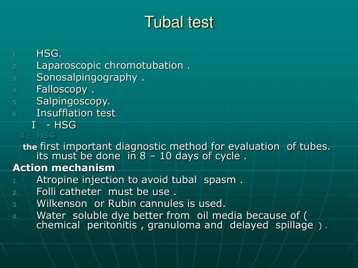 Tubal test