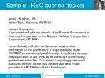 sample trec queries topics