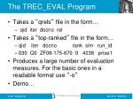 the trec eval program