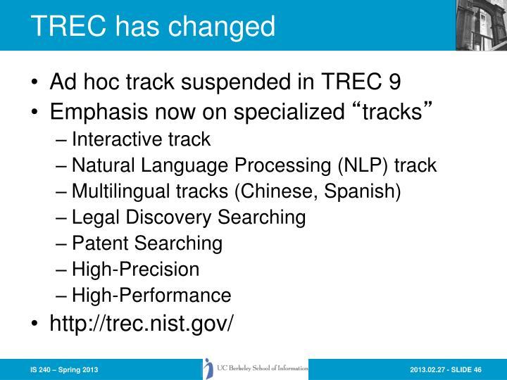 TREC has changed