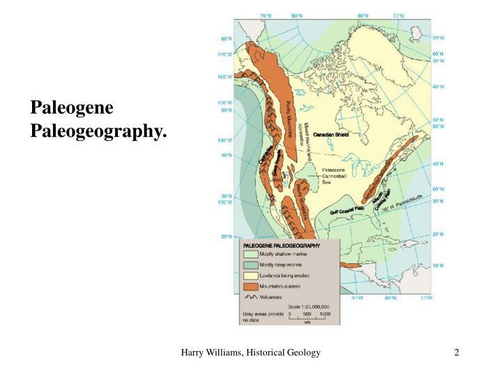 Paleogene Paleogeography.