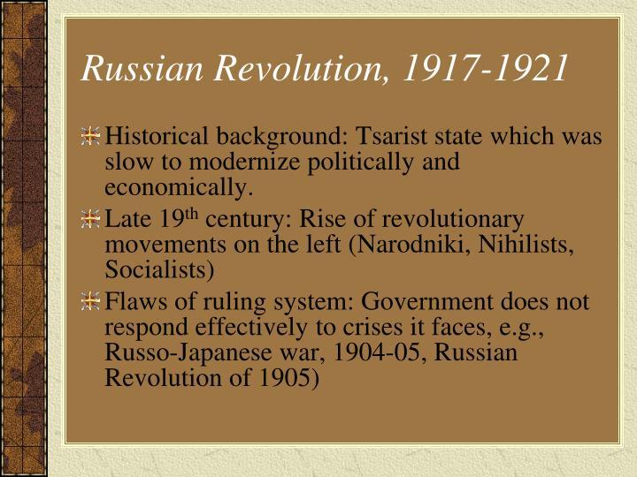 Russian Revolution, 1917-1921