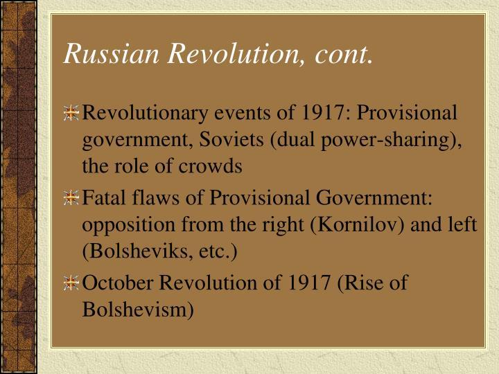 Russian Revolution, cont.