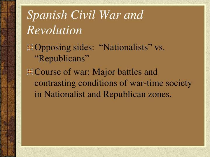 Spanish Civil War and Revolution