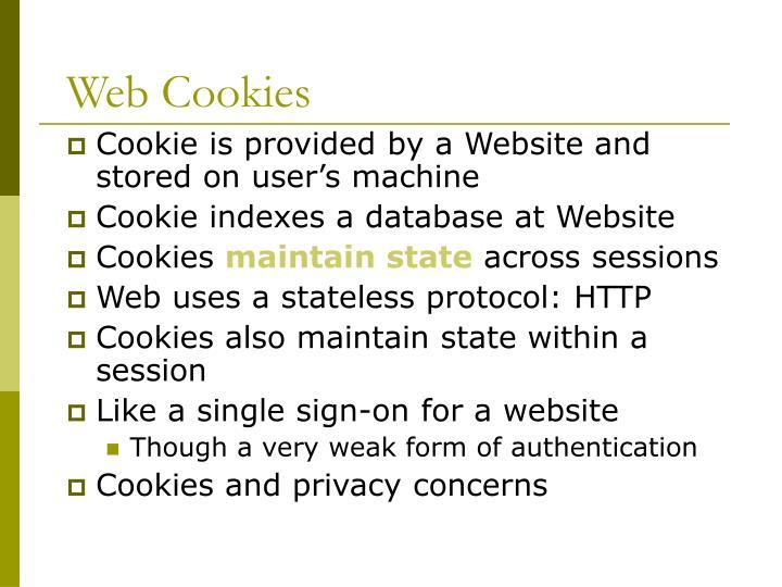 Web Cookies