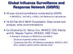 global influenza surveillance and response network gisrs