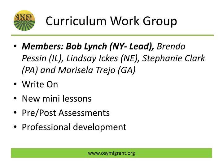 Curriculum Work Group