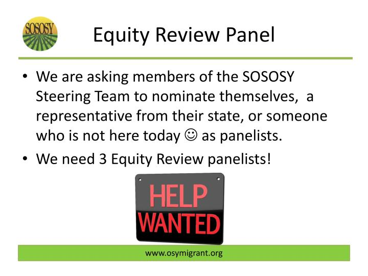 Equity Review Panel