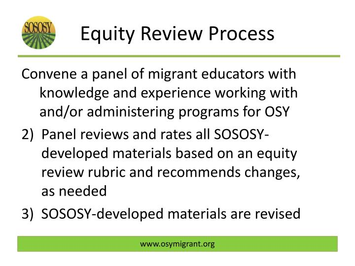 Equity Review Process