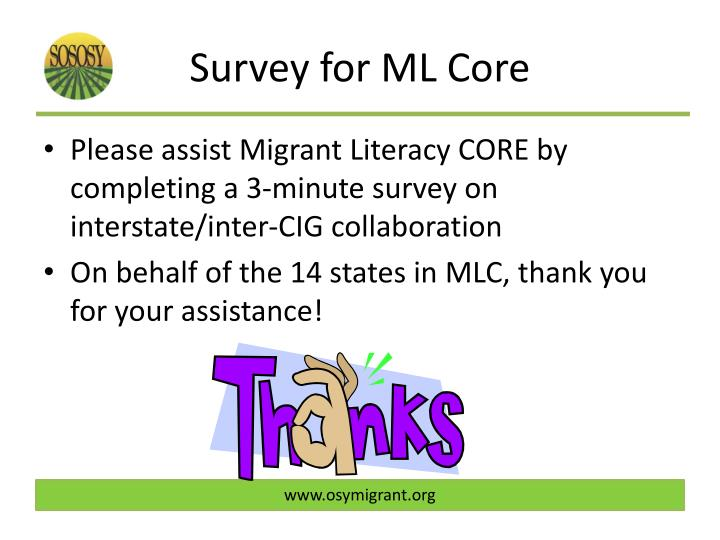 Survey for ML Core