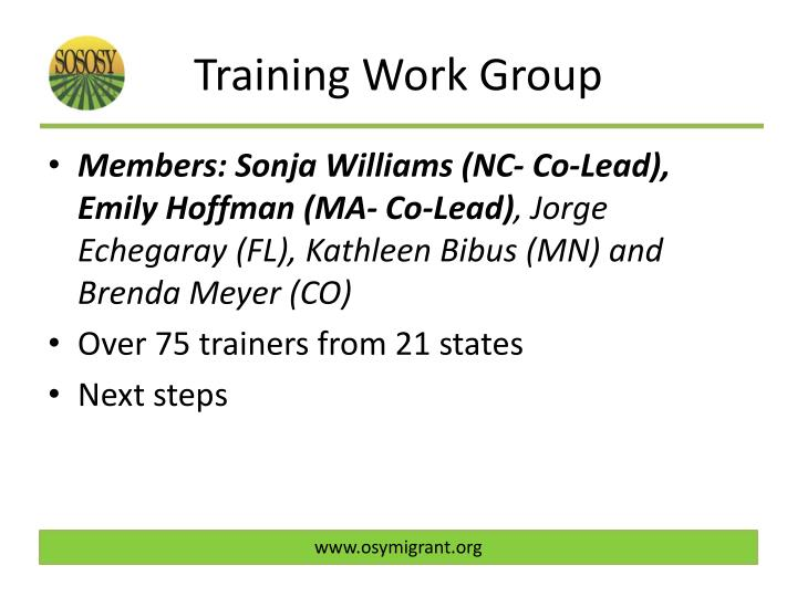 Training Work Group