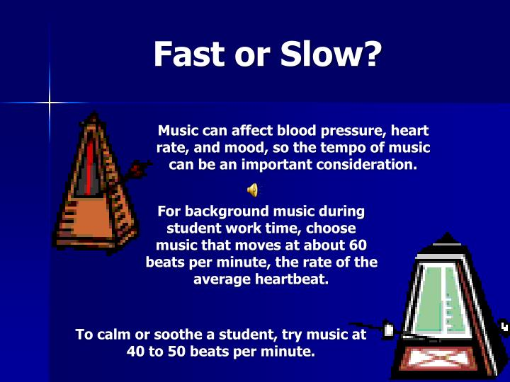 Fast or Slow?