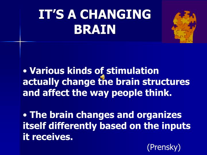 IT'S A CHANGING BRAIN