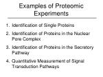 examples of proteomic experiments