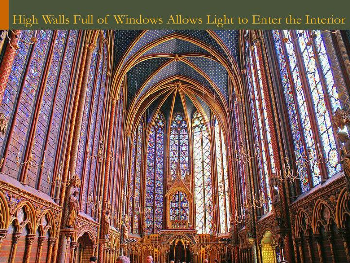 High Walls Full of Windows Allows Light to Enter the Interior