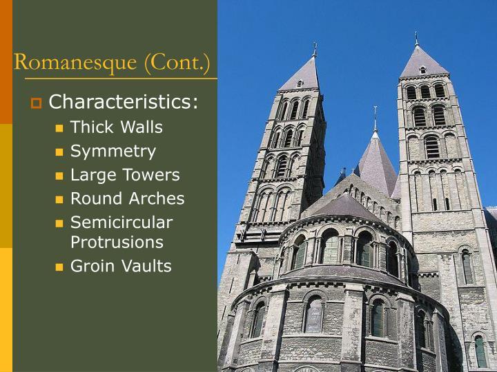Romanesque (Cont.)