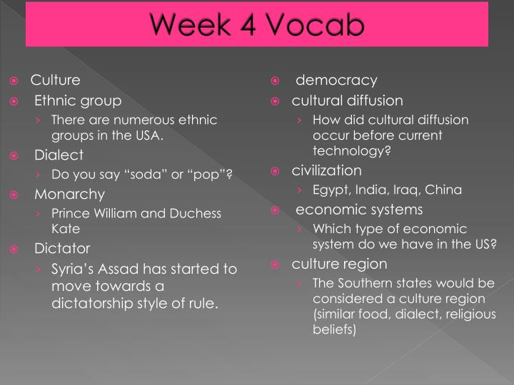Week 4 Vocab
