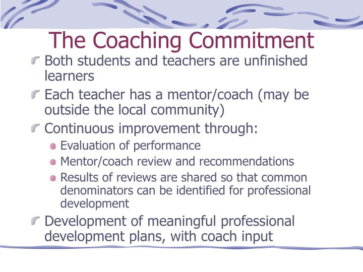 The Coaching Commitment