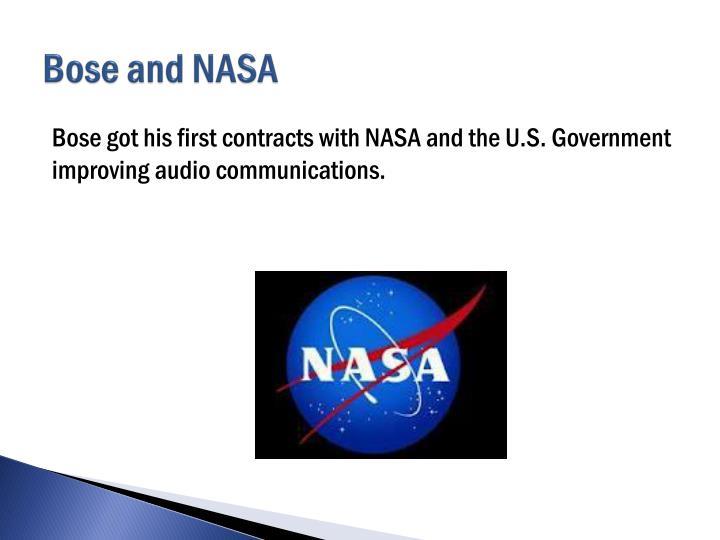 Bose and NASA