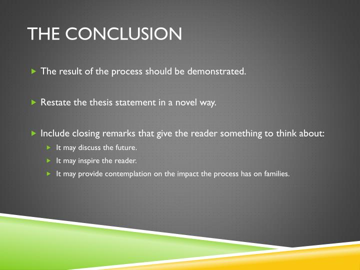 process essay powerpoint presentation Power point as an effective teaching tool education essay  powerpoint presentation,  of the data collection process will be going to.