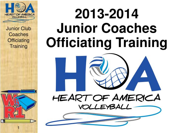 2013 2014 junior coaches officiating training