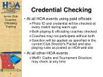credential checking