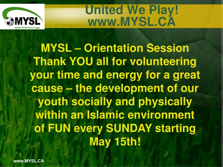 United we play www mysl ca