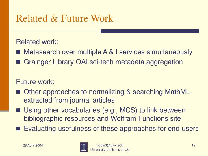 Related & Future Work