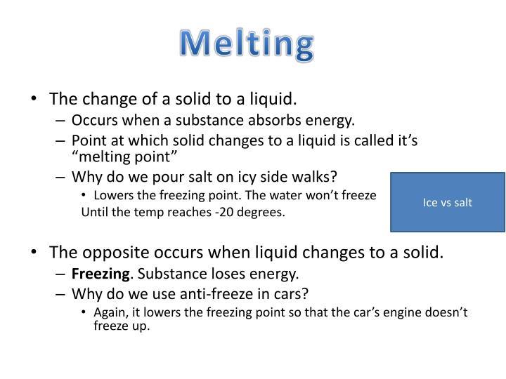 Melting