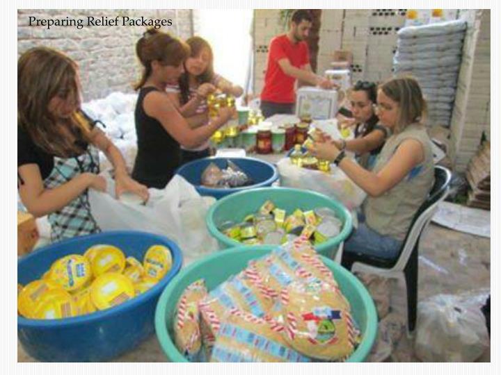 Preparing Relief Packages