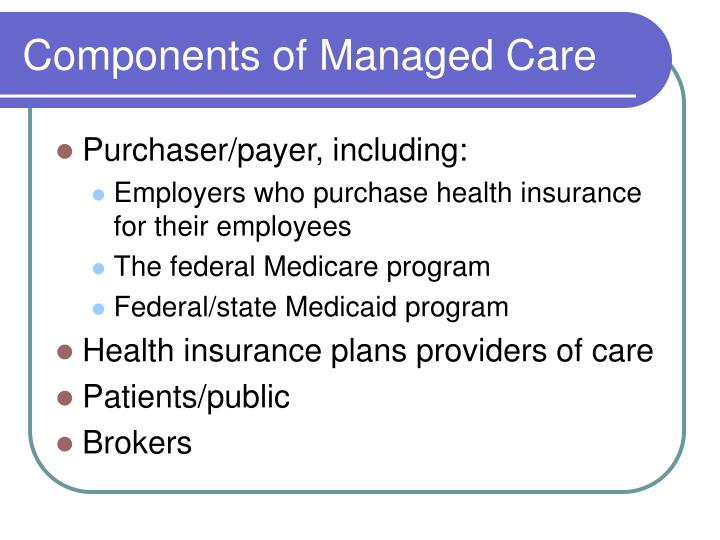 Components of Managed Care